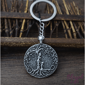 Beloved Life Jewelry: Mom & Daughter 'Tree of Life' Pendant Keychain [Silver]