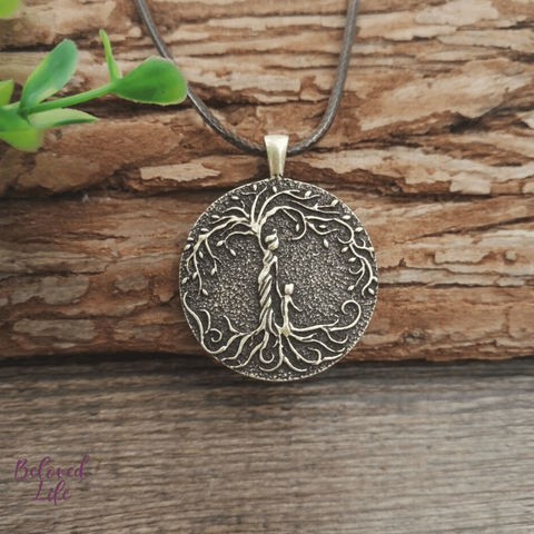 Beloved Life Jewelry: Mom & Son 'Tree of Life' Pendant Necklace [Bronze]