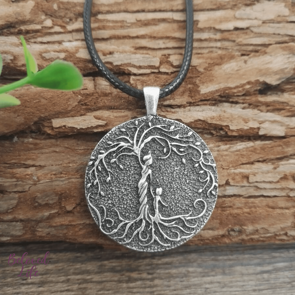 Beloved Life Jewelry: Mom & Son 'Tree of Life' Pendant Necklace [Silver]