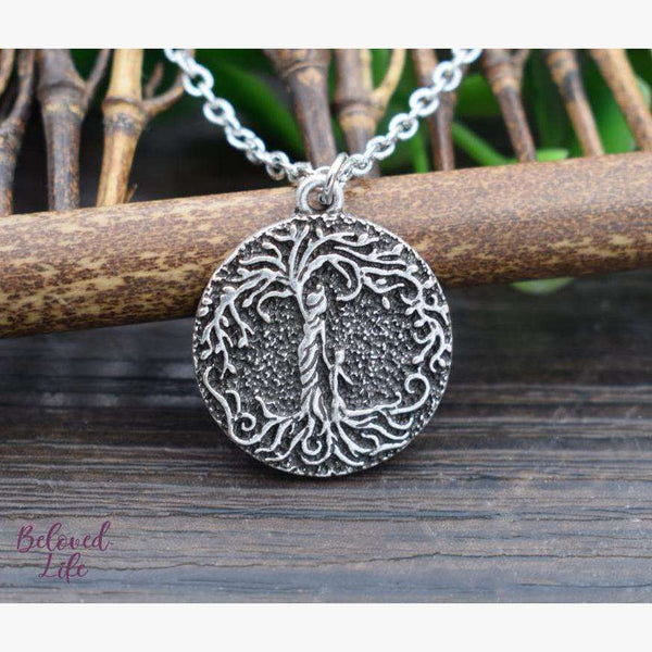 "Beloved Life Jewelry: Mom & Son 'Tree of Life' Ultimate BUNDLE: ""Dainty"" Necklace + Bracelet + Earrings + Keychain [Silver]"