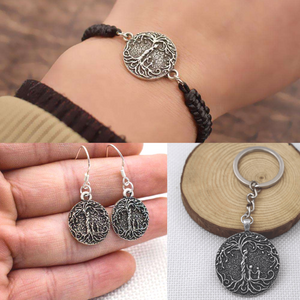 Mom & 2 Child Matching Bracelet, Earrings & Keychain (3-Piece Bundle)