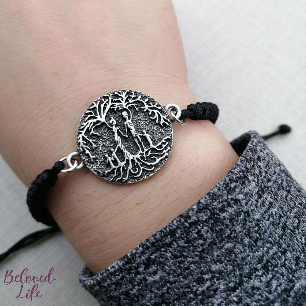 Beloved Life Jewelry: Parents & 3 Child 'Tree of Life' Pendant Bracelet [Silver]