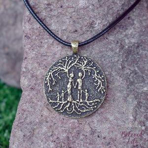 Beloved Life Jewelry: Parents & 3 Child 'Tree of Life' Pendant Necklace [Bronze]