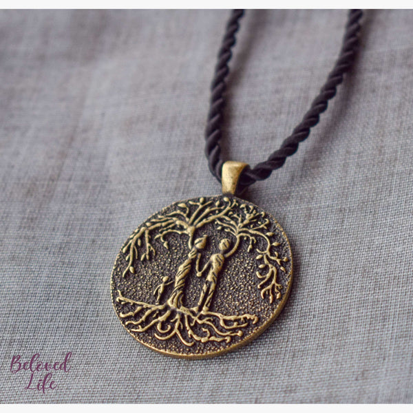 Beloved Life Jewelry: Parents & Daughter 'Tree of Life' Pendant Necklace [Bronze]