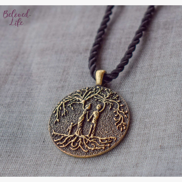 Beloved Life Jewelry: Parents & Son 'Tree of Life' Pendant Necklace [Bronze]
