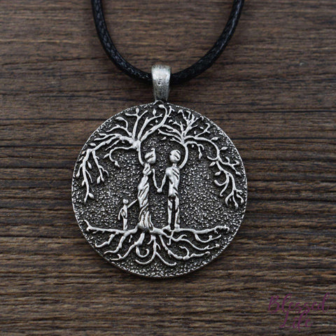 Beloved Life Jewelry: Parents & Son 'Tree of Life' Pendant Necklace [Silver]
