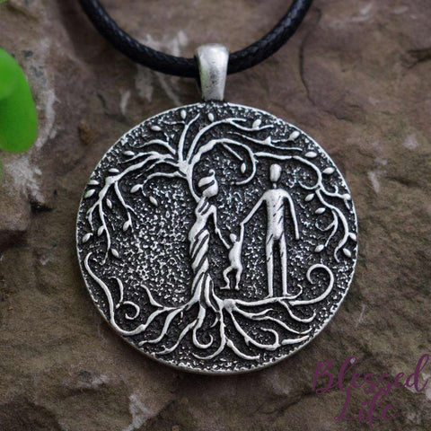 Beloved Life Jewelry: Parents & Toddler 'Tree of Life' Pendant Necklace [Silver]