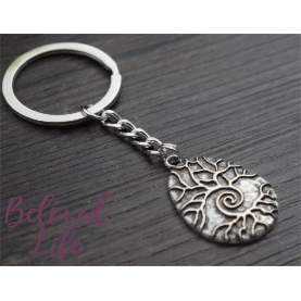 "Beloved Life Jewelry: Raindrop ""As Above... So Below"" Pendant Keychain [Silver]"