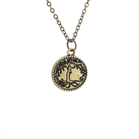 Beloved Life Jewelry: Woman 'Tree of Life' Coin Pendant Necklace [Antique Bronze]
