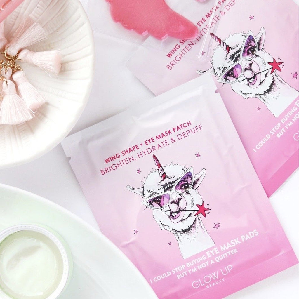 Glow Up Beauty Unicorn Eye Masks - these eye masks are formulated with premium anti-aging ingredients to plump and smoothen the skin.