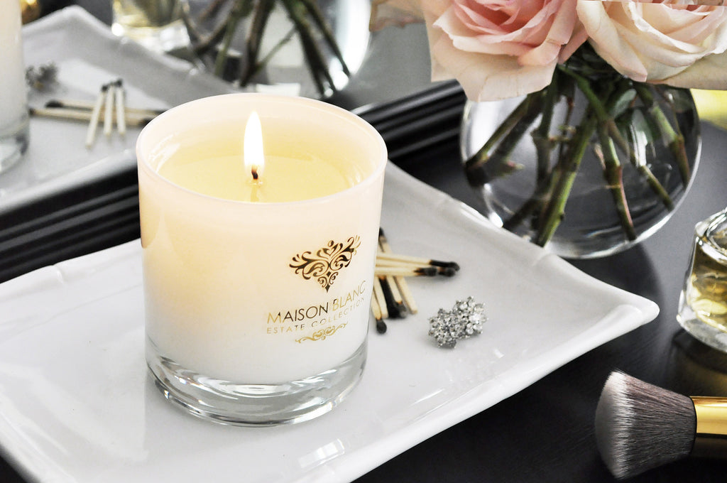 Estate Collection Candle - BEVERLY HILLS – CANDLE with 22-KARAT GOLD DECOR
