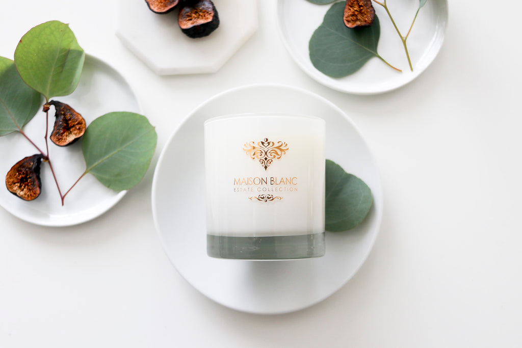Estate Collection Candle - ST. TROPEZ – CANDLE with 22-KARAT GOLD DECOR