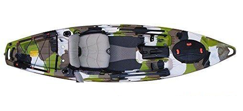 FeelFree Lure 11.5 Kayak w/ Sonar and Electronic Pod Lime Camo