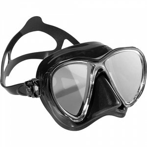 Cressi Big Eyes Evolution Dark Dive Mask w/ Mirrored Lens