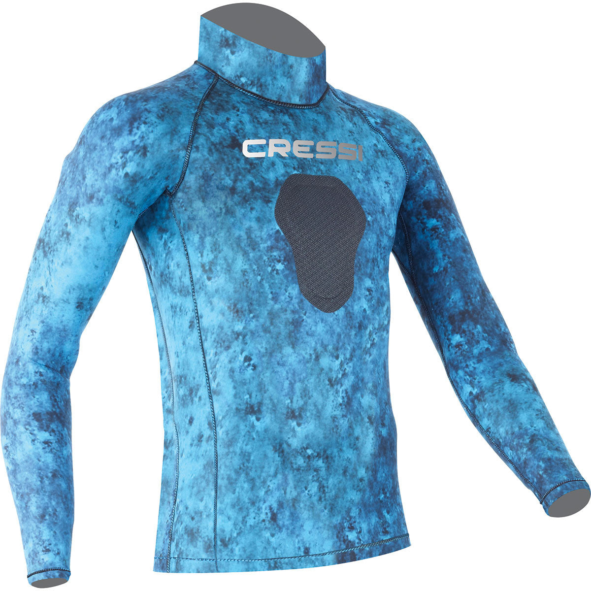 Cressi Blue Hunter Camo Freediving Rash Guard Wetsuit