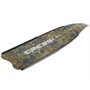 Cressi Camo Green Gara Modular Carbon Freediving Blade (Single Blade)