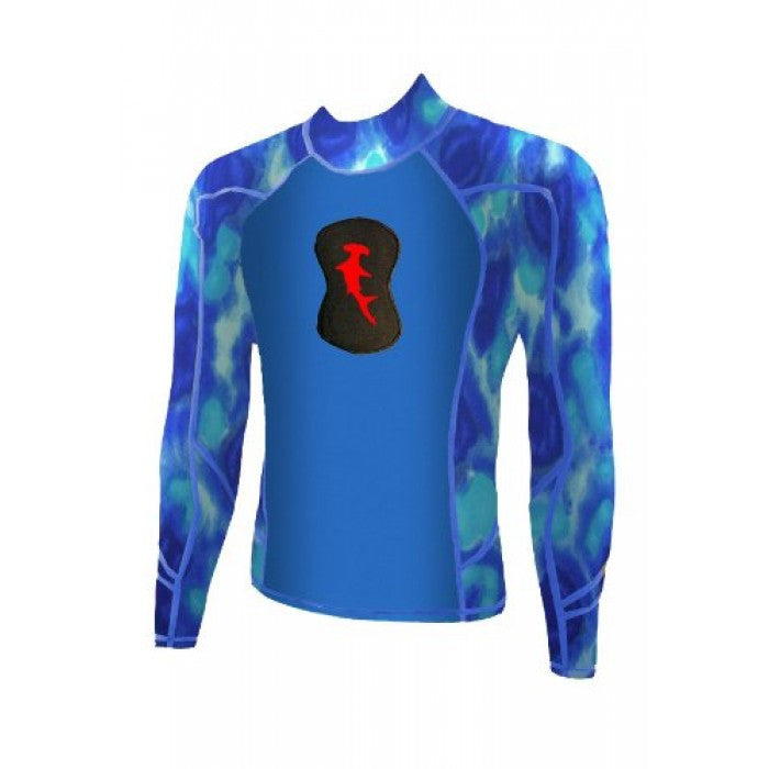 Hammerhead Spearguns Ambush 1mm Long Sleeve Neoprene Freediving Rash Guard Wetsuit Pelagic Shatter