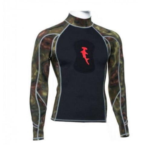 Hammerhead Spearguns Ambush 1mm Long Sleeve Neoprene Freediving Rash Guard Wetsuit Deep Reef
