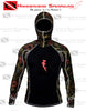 Image of Hammerhead Spearguns Ambush 1mm Long Sleeve Neoprene Freediving Rash Guard Wetsuit w/ Hood Deep Reef