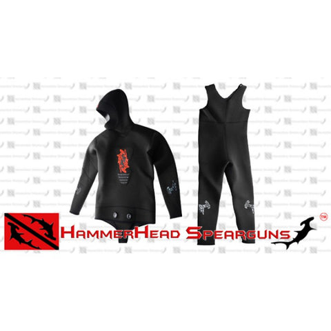 Hammerhead Spearguns Benthos 3mm Black Open Cell Men's Neoprene Freediving Wetsuit