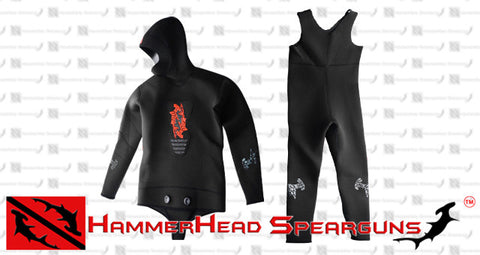 Hammerhead Spearguns Benthos 7mm Black Open Cell Men's Neoprene Freediving Wetsuit