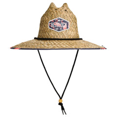 Hemlock Flock Flamingo Straw Drawstring Hat HEM-FL9139129