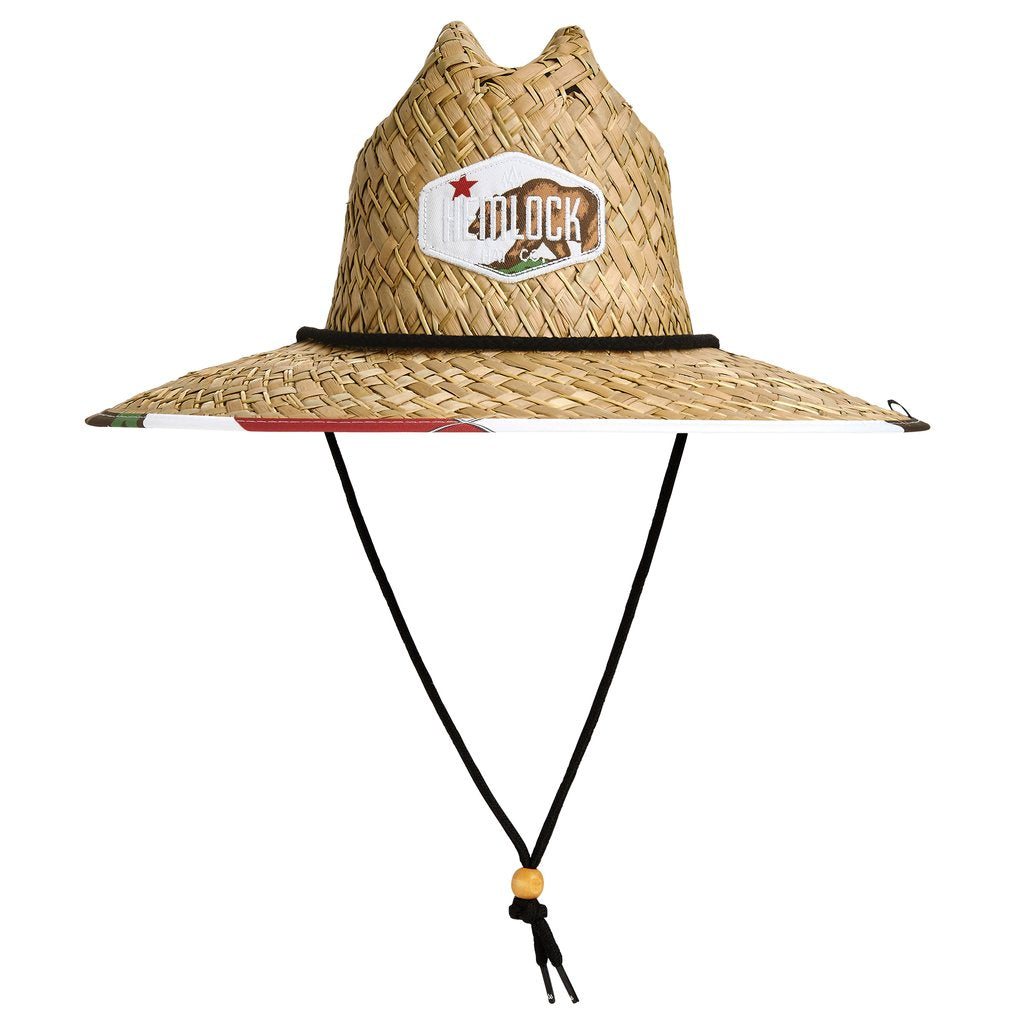 Hemlock Monarch California Bear Straw Drawstring Hat HEM-MN9139126
