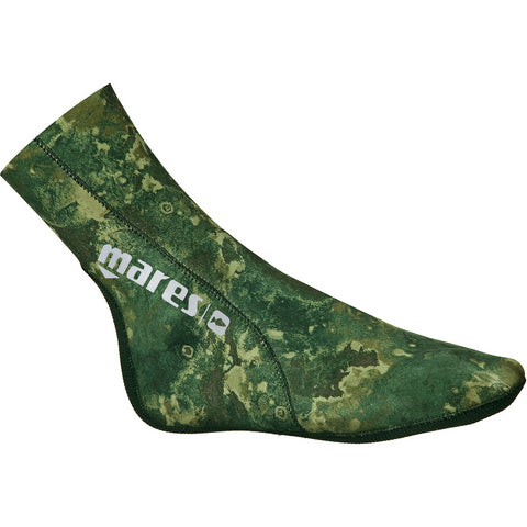 Mares 3mm Camo Green Neoprene Freediving Fin Socks