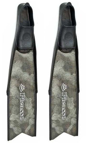Picasso Green Camo Fiberglass Top Freediving Fins