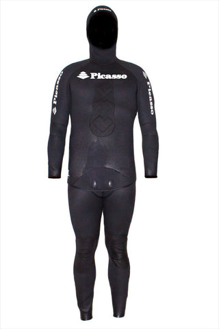 Picasso Shadow 5mm Open Cell Neoprene Two Piece Freediving Wetsuit