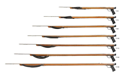 Riffe Euro Series Spearguns with Rear Handle (Teak Wood)