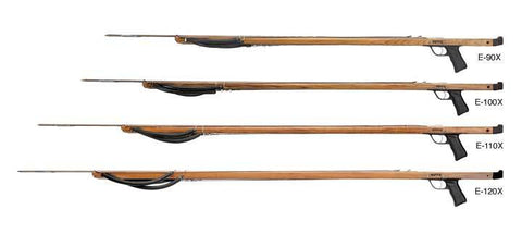Riffe Euro X Series Spearguns with Rear Handle (Teak Wood)