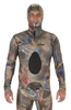 Image of Riffe Covi-Tek Camo Lycra  Freediving Wetsuit Top w/ Velcro Beaver Tail and Hood
