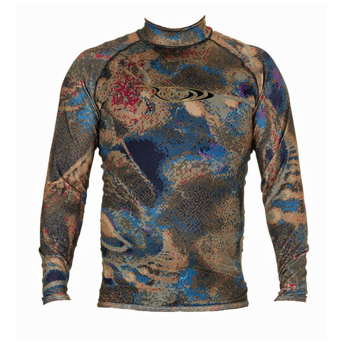 Riffe Lycra Covi-Tek Camo Freediving Rash Guard Wetsuit
