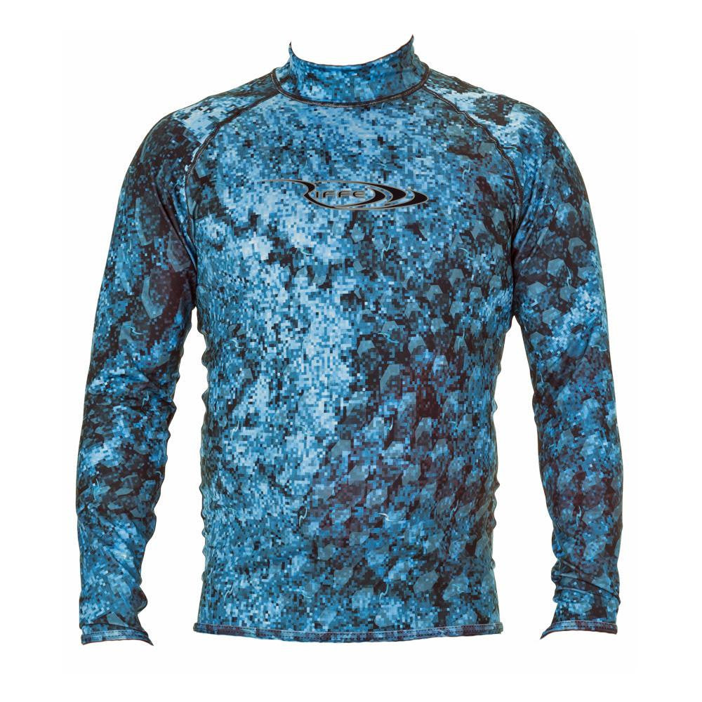Riffe Lycra Pelagi-Tek Camo Rash Guard Freediving Wetsuit