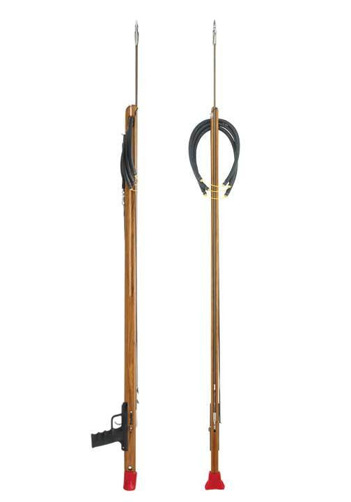 Riffe Standard Series Spearguns with Rear Handle (Teak Wood)
