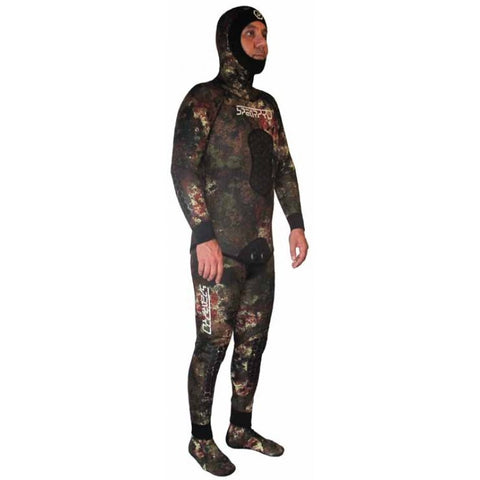 Spearpro Costal Camo 7mm Two Piece Neoprene Freediving Wetsuit