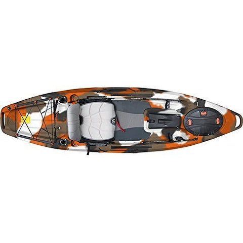 FeelFree Lure 11.5 Kayak w/ Sonar and Electronic Pod Orange Camo
