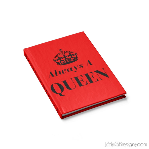Always A Queen - Journal - Blank (Red)-Paper products-Jahnia Designs