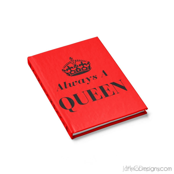 Always A Queen Journal - Ruled Line (Red)-Paper products-Jahnia Designs