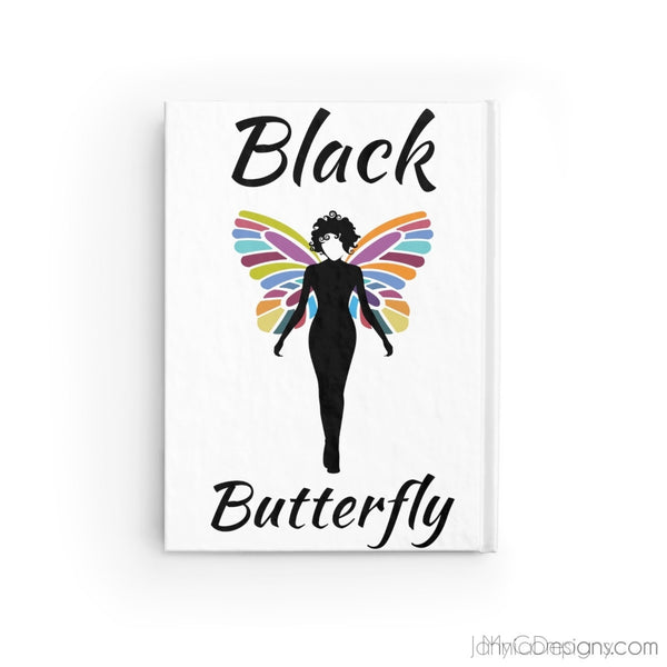 Black Butterfly Journal - Blank-Paper products-Jahnia Designs