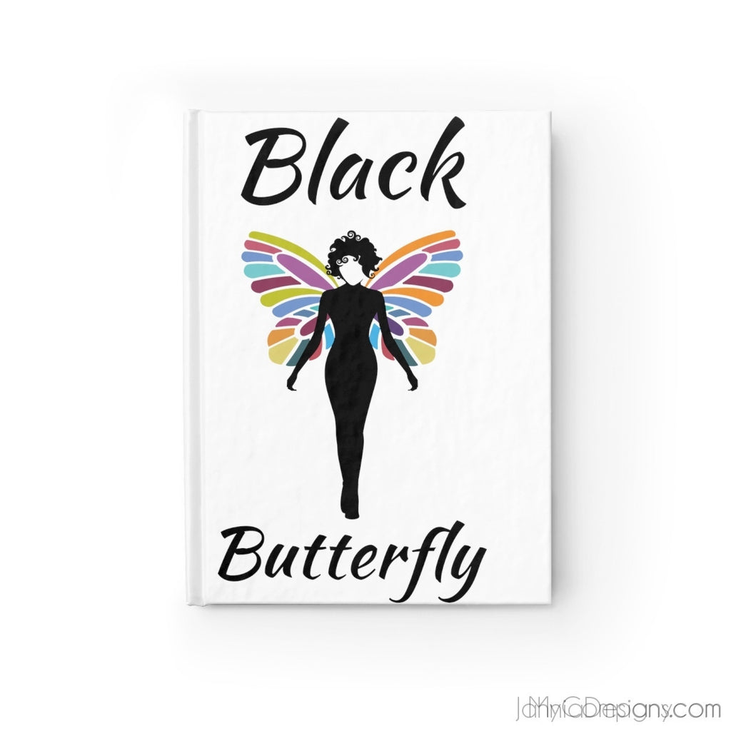 Black Butterfly Journal - Ruled Line-Paper products-Jahnia Designs