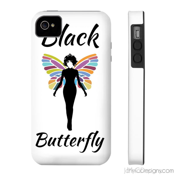 Black Butterfly Phone Cases-Phone Case-Jahnia Designs