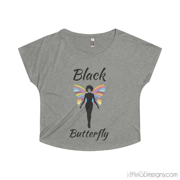 Black Butterfly Tee-Apparel-Jahnia Designs