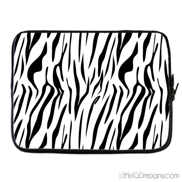 Black & White Safari - Zebra Laptop Cover-Tech Accessories-Jahnia Designs