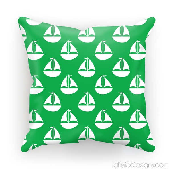 Green Nautical Cushion-Homeware-Jahnia Designs