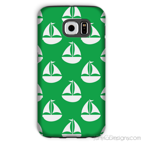 Green Nautical Phone Case-Phone & Tablet Cases-Jahnia Designs