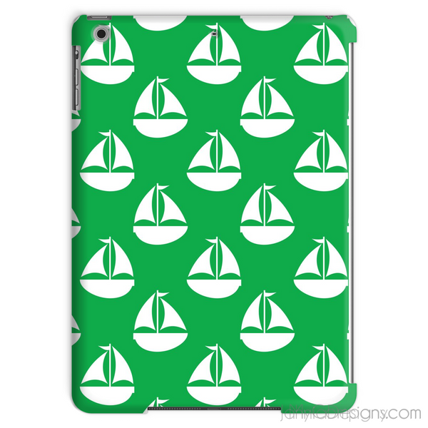 Green Nautical Tablet Case-Phone & Tablet Cases-Jahnia Designs