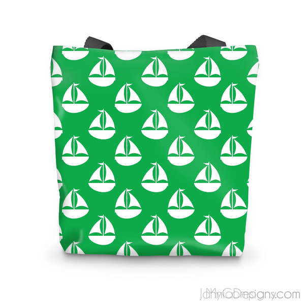 Green Nautical Tote Bag-Accessories-Jahnia Designs