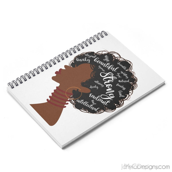 I AM Spiral Notebook - Ruled Line-Paper products-Jahnia Designs